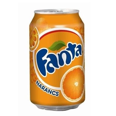 Fanta narancs  0,33 l
